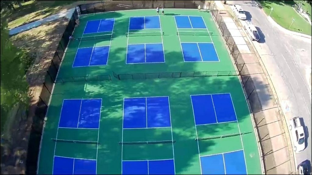 Drone view of the courts